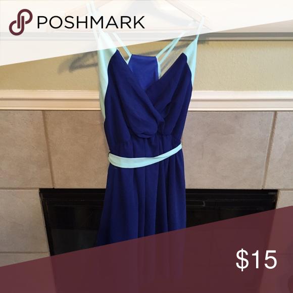 Used large boutique brand dress Used large blue/mint boutique dress Tea & Cup Dresses Midi