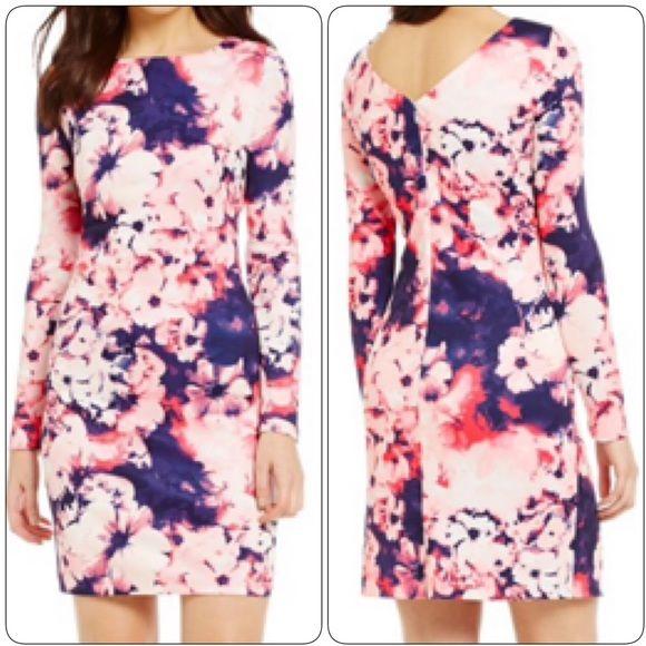NWT Gianni Bini Longsleeve Floral Dress NWT Gianni Bini Maryrose Longsleeve Floral Dress, Size Small Gianni Bini Dresses Long Sleeve