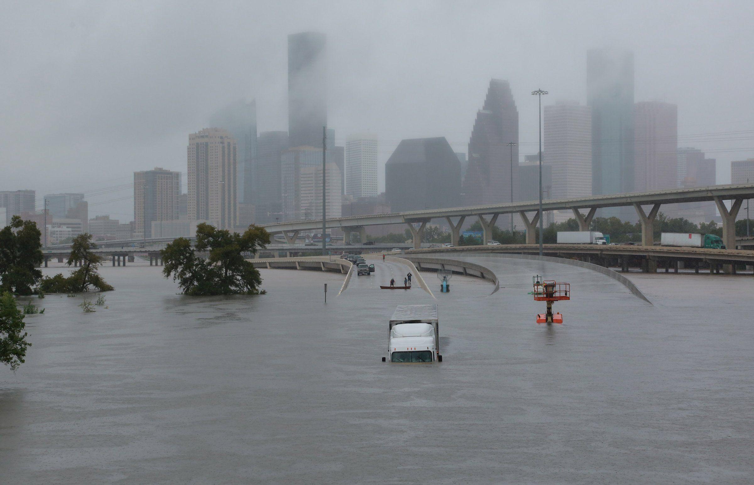Communication In An Emergency Houston Flooding Hurricane Harvey