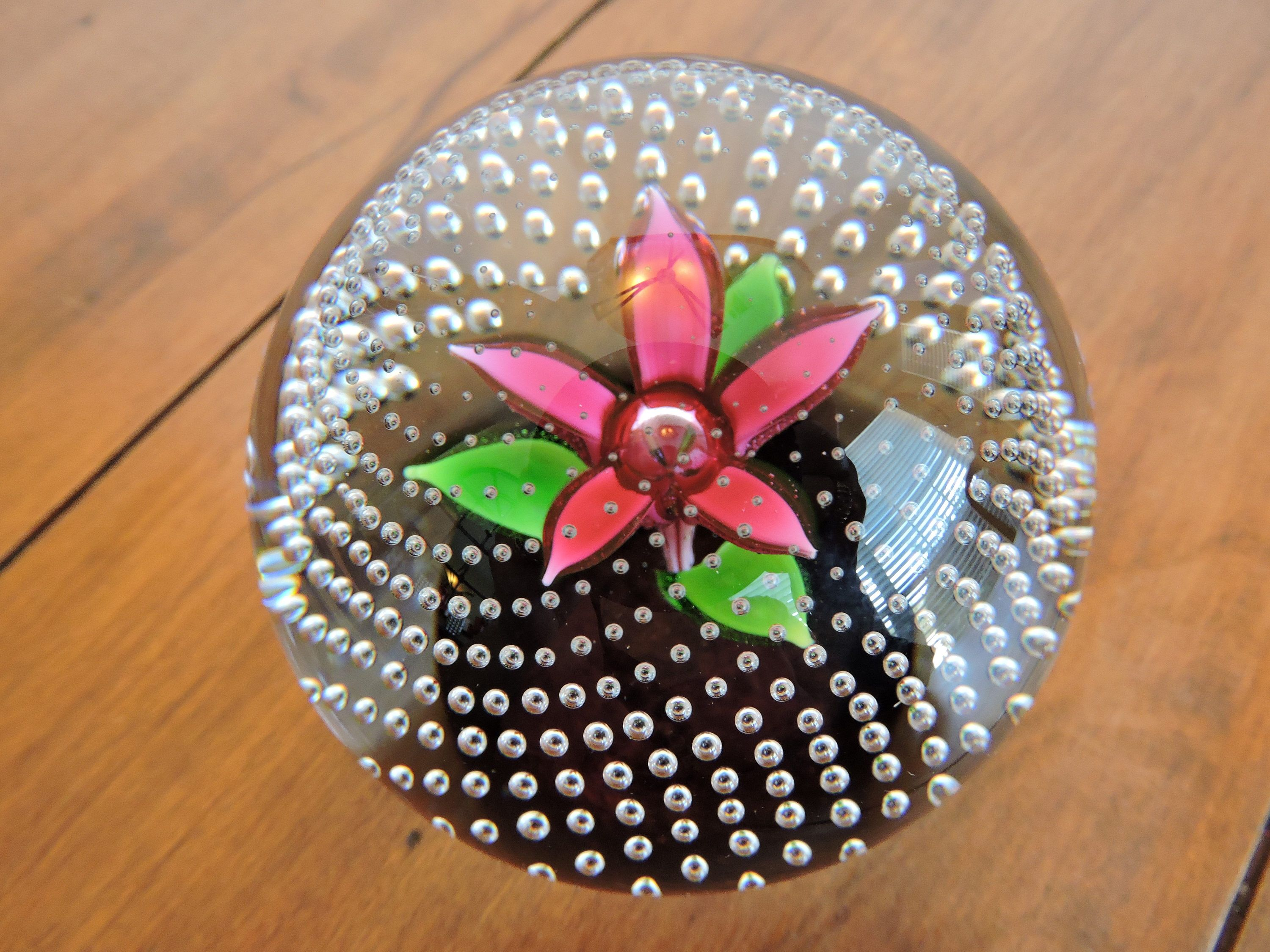 Caithness Paperweight Flower In The Rain Made In Scotland