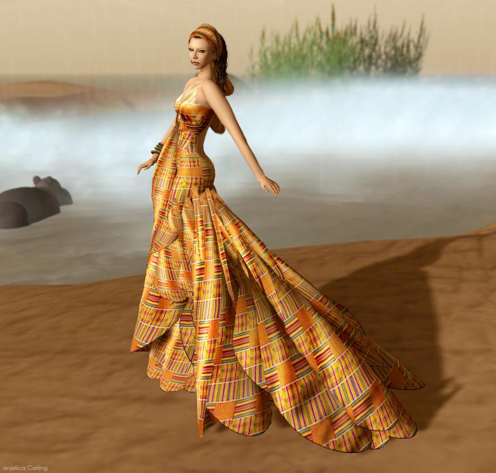 Anjelica 39 s closet new release from desir ghana kente for Cloth for wedding dresses