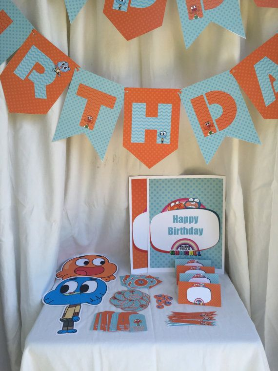 The Amazing World Of Gumball Banner Gumball Birthday Party
