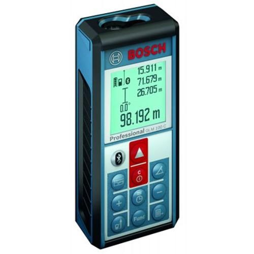 Bosch Blauw Laserafstandsmeter Glm 100 C Professional 601072700 Blauw Meters Meetgereedschap