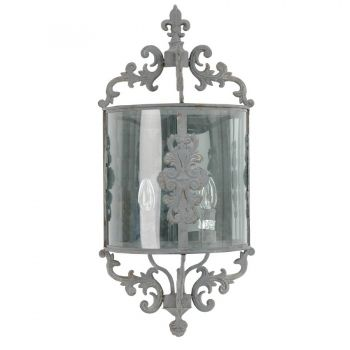 Deko Salon wandle shabby chic antique anthrazit deko salon len