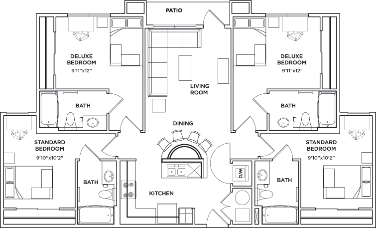 Floor plans university walk knoxville student apartments in knoxville tn