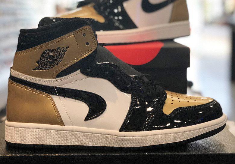 add8829952ae Air Jordan 1 Gold Toe Upside Down Swoosh  thatdope  sneakers  luxury  dope   fashion  trending