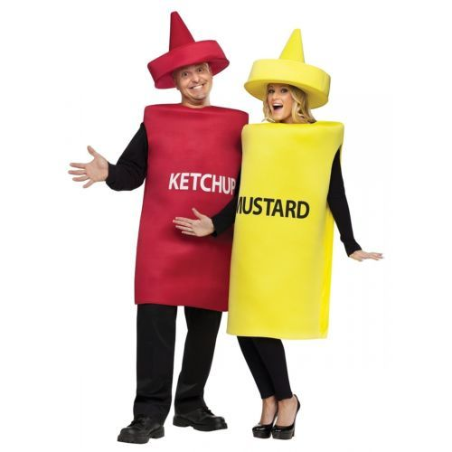 halloween costumes couples ketchup and mustard costume adult funny couples halloween fancy dress u003e