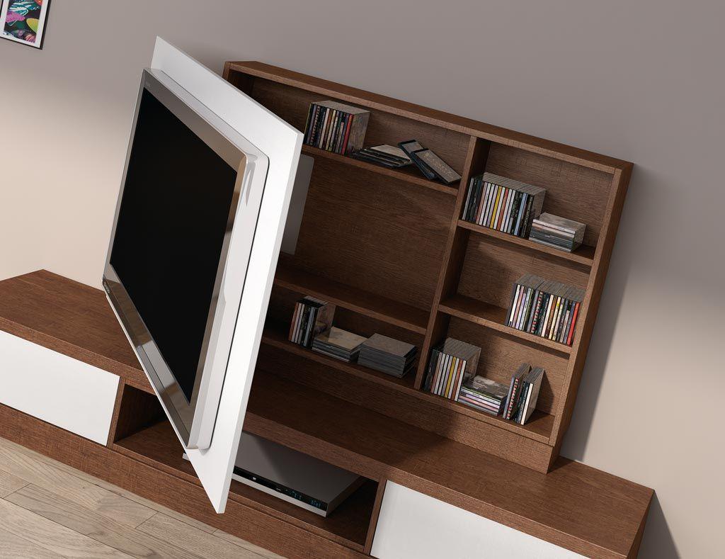 Los paneles giratorios para la televisi n a parte de para for Mueble para dvd