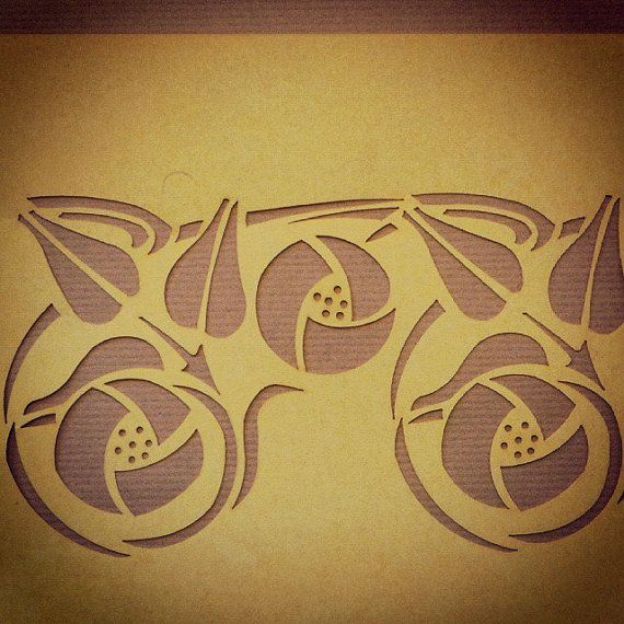 Glasgow Rose stencil | Charles rennie mackintosh, Stenciling and Craft