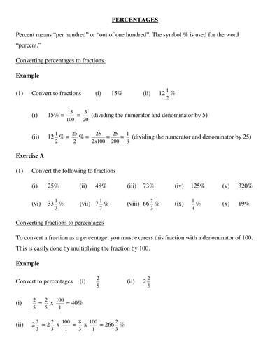 Percentages Review Percentages Math High School Math Teaching Math