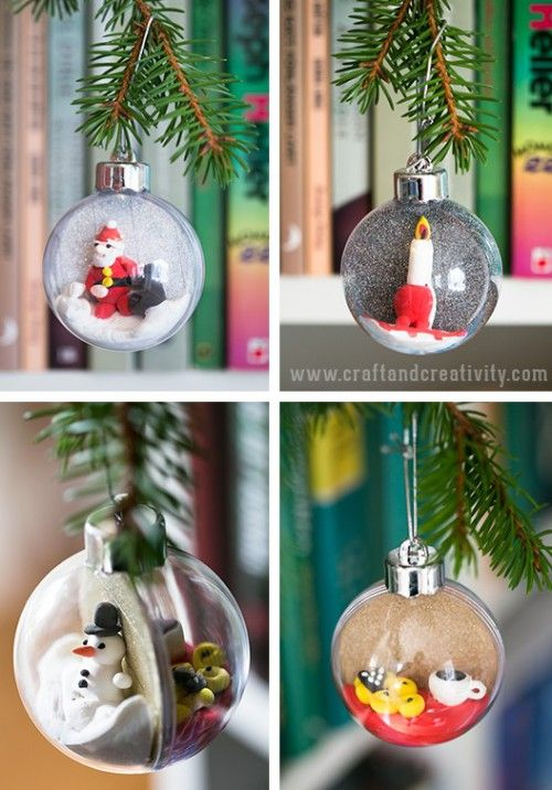 Diy Christmas Ornaments Of Plastic Baubles Shelterness Christmas