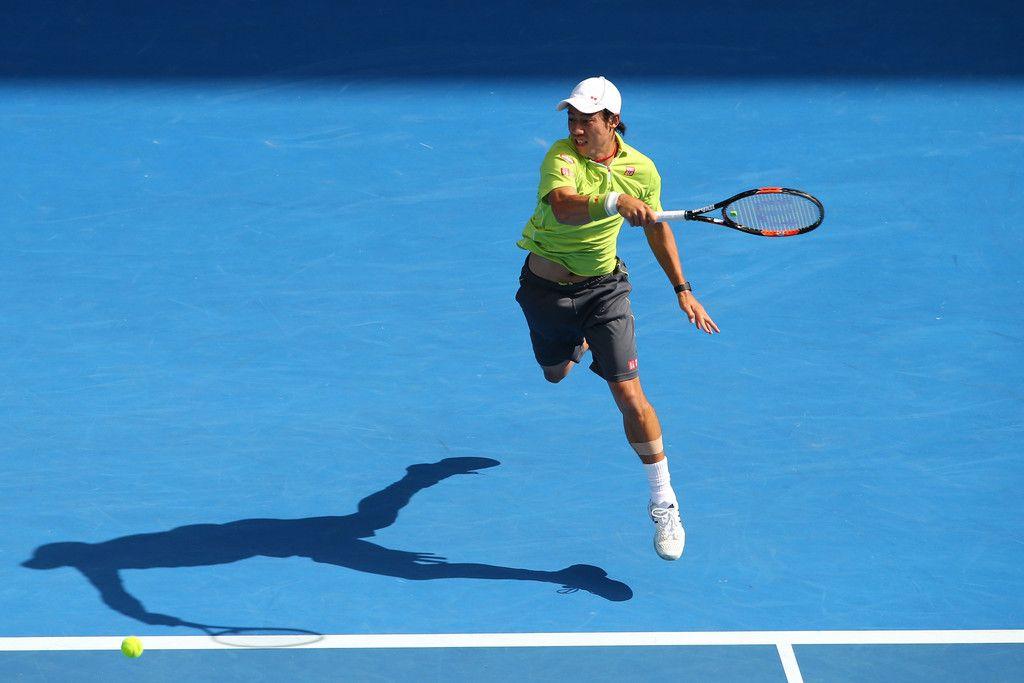 Kei Nishikori Photos: Australian Open: Day 8