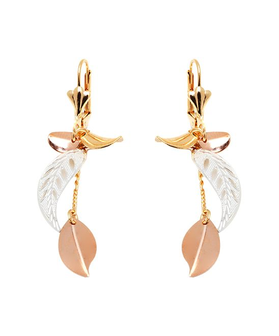 1b882e157 Sevil Designs Tri-Tone Leaf Drop Earrings | zulily . $11.99 $84.00 Product  Description: Stand out in these gilded, nature-inspired treasures  showcasing a ...