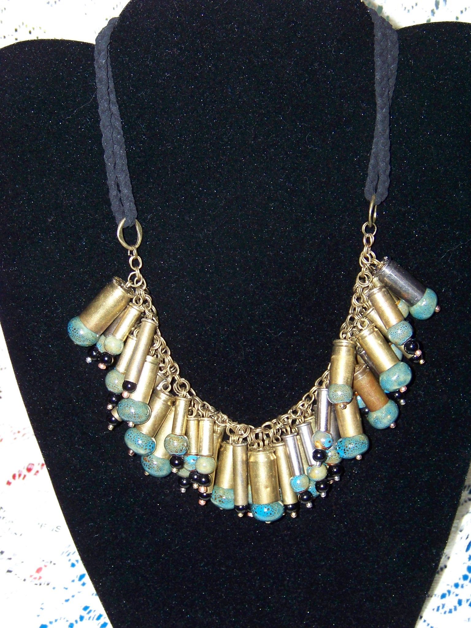 bullet shell necklace I made for a friend
