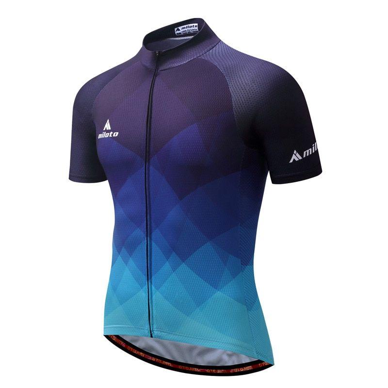 MILOTO 2018 Cycling Jersey Tops Summer Racing Cycling Clothing Ropa  Ciclismo Short Sleeve Mtb Bike Jersey Shirt Maillot Ciclismo 955ada992