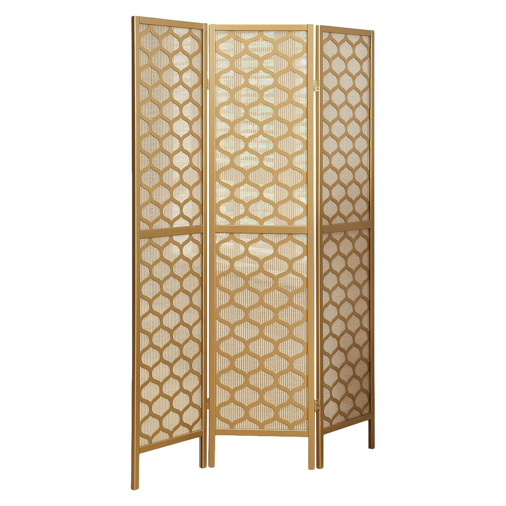Three Panel Frame Screen Gold Everyroom Products Pinterest