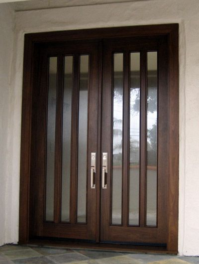 Dark Stain With Brushed Nickel Hardware Patio Doors, Entry Doors, Dark  Stains, Door