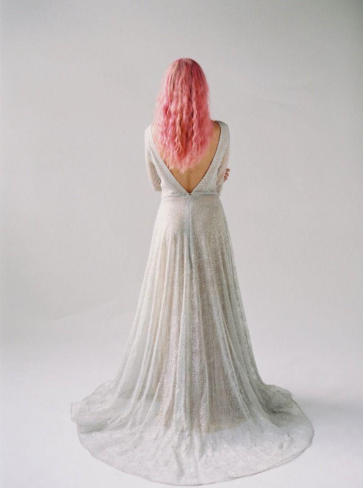 The Stargrove Claire La Faye Silver Sparkling Wedding Dress