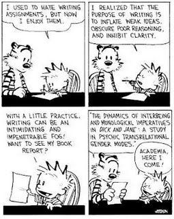 Another lesson from Calvin and Hobbes about academia.