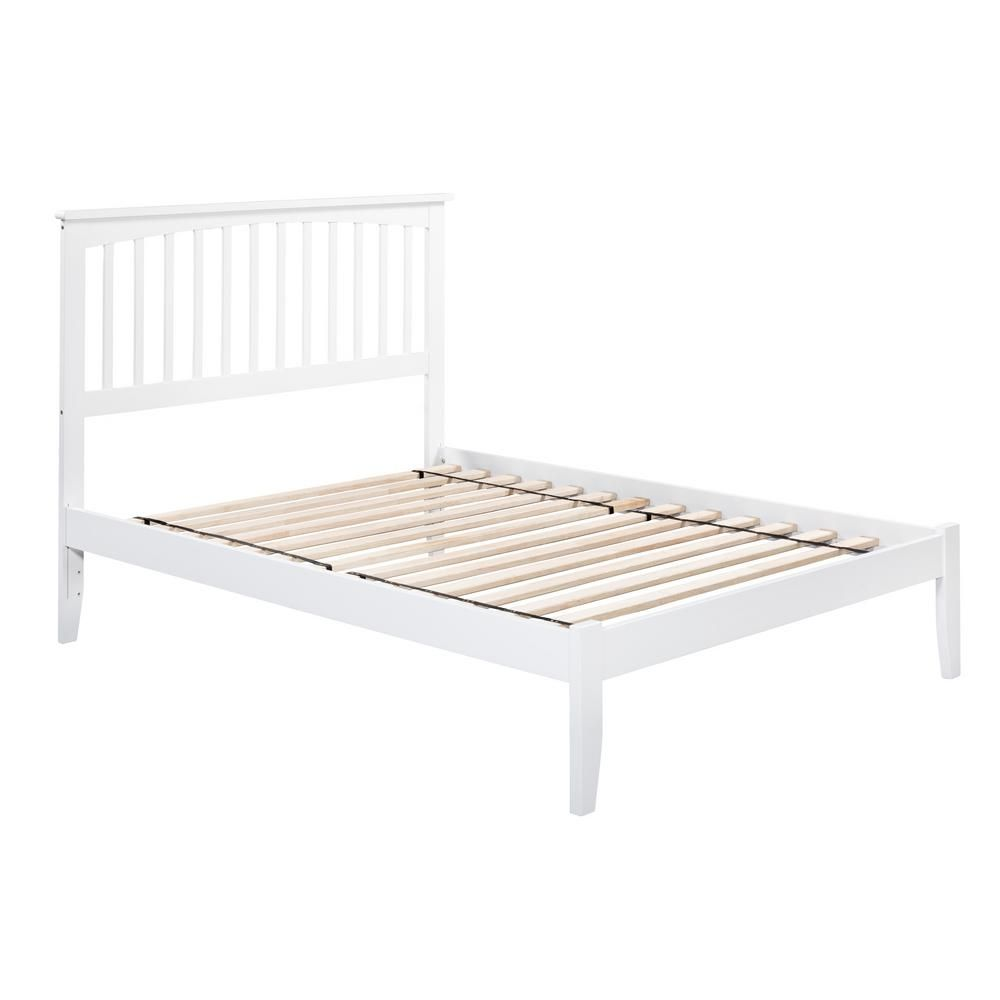 Atlantic Furniture Mission White Twin Xl Platform Bed With Open