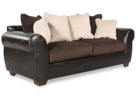 ASH C 3850038   Ashley Verizon Chocolate Sofa | Mathis Brothers Furniture.  Clearance ...