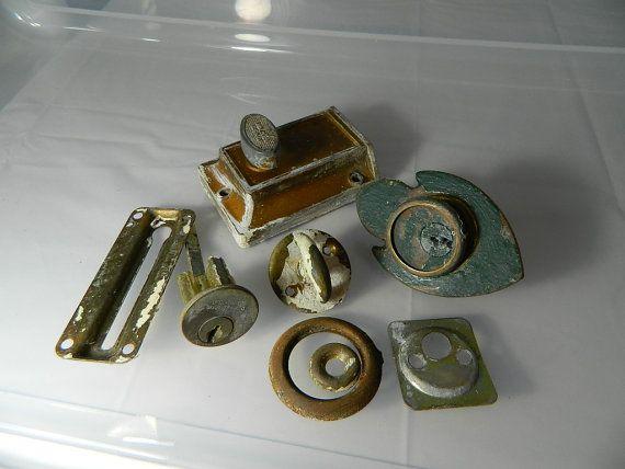Vintage Door Locks And Door Lock Parts 1940 S By 3sisterstreasures 29 49 Vintage Door Vintage Etsy