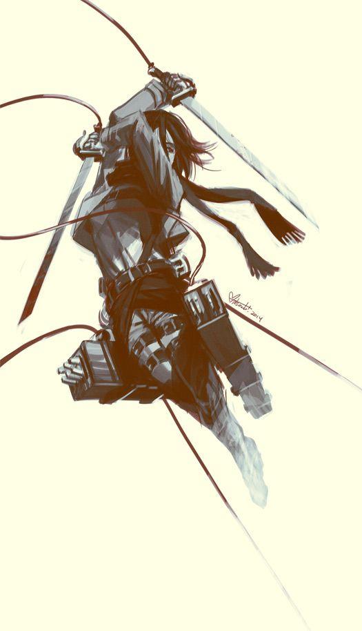 Mikasa In Flight by spacecoyote on DeviantArt