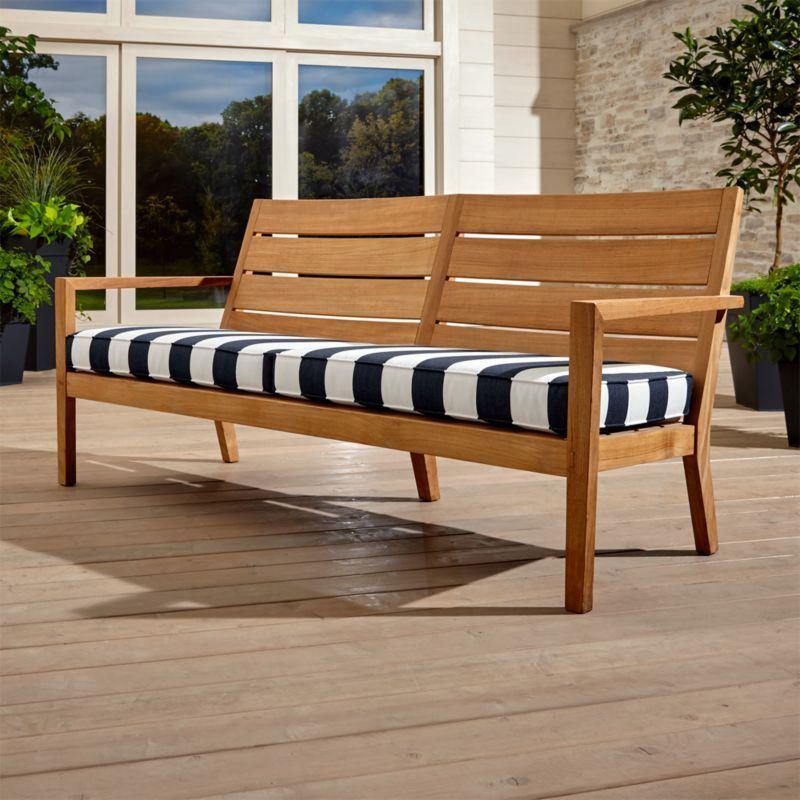 Regatta Black And White Outdoor Sofa Reviews Crate And Barrel Natural Sofas Outdoor Wood Furniture Patio Lounge Furniture