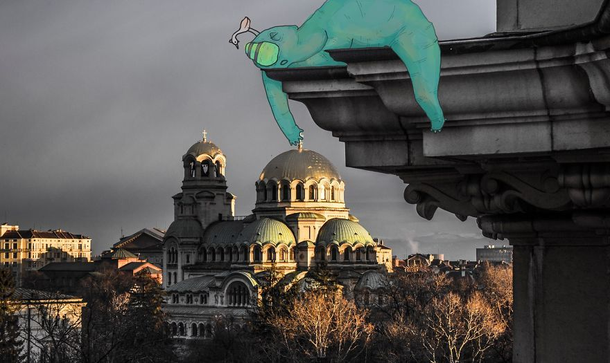 Lazy monsters take over sofia bulgaria with images