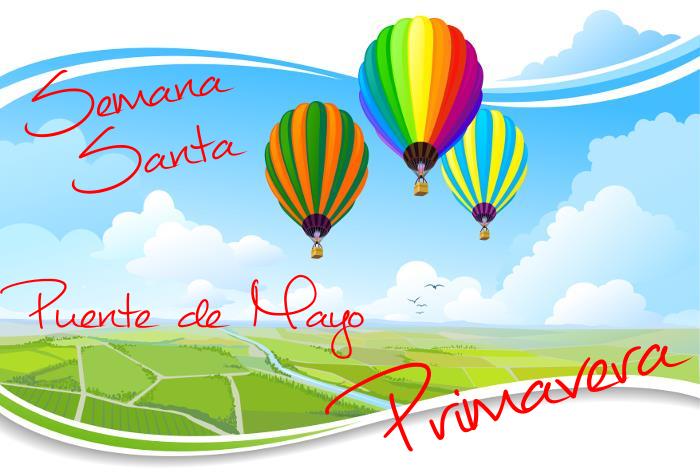 """¡Estrenamos la Primavera! Semana Santa, Puente de Mayo... ¡Tiempo para tomarse un respiro y """"have a break""""!"""