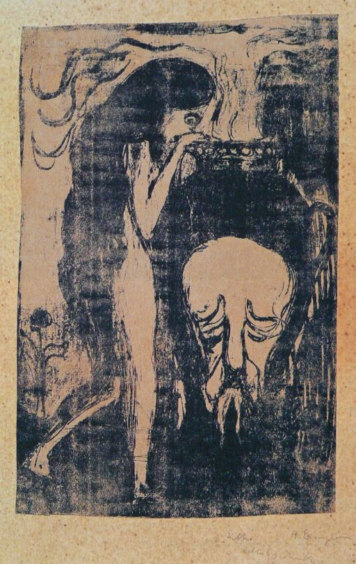 Edvard Munch - Woman at the Urn. 1888.  UT PICTURA POESIS
