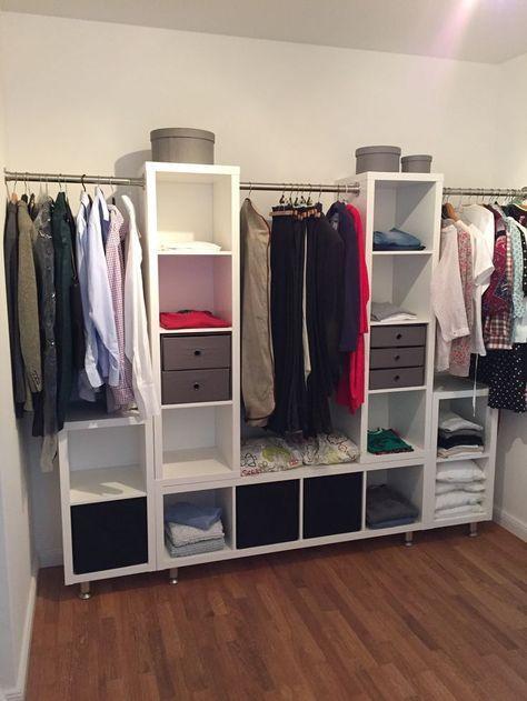 3 Unterschränke 2 Oberschränke verbunden mit einer Kleiderstange und