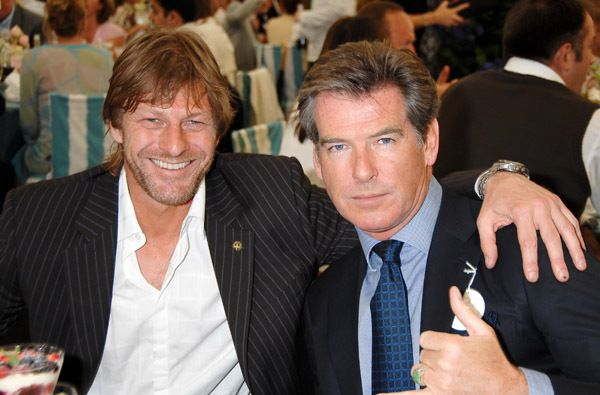 Pierce Brosnan And Sean Bean Sean Bean James Bond Movies Pierce Brosnan
