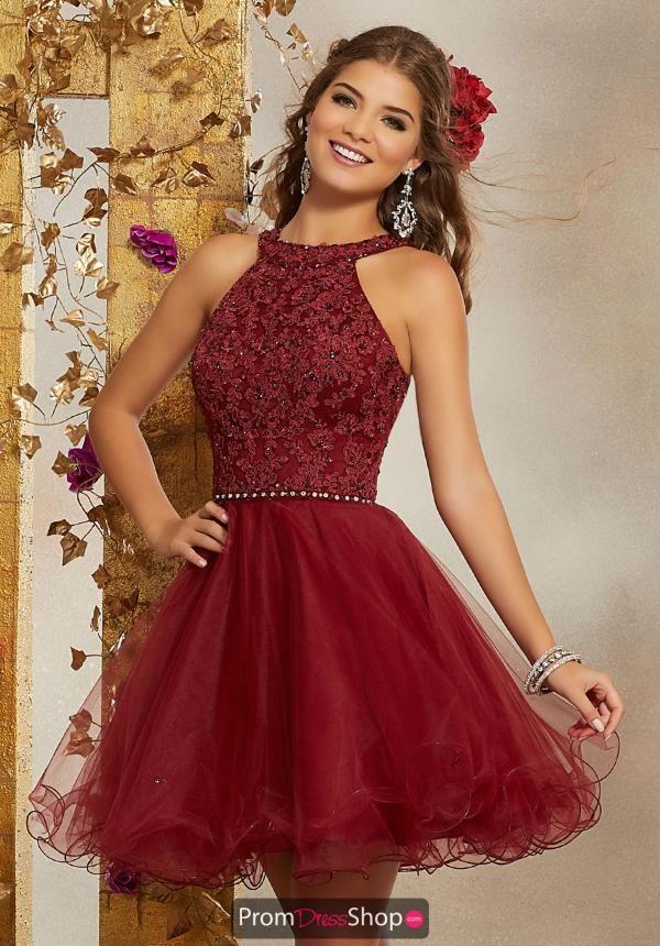 Mori Lee Sticks & Stones High Neckline Lace Dress 9508 #schooldancedresses
