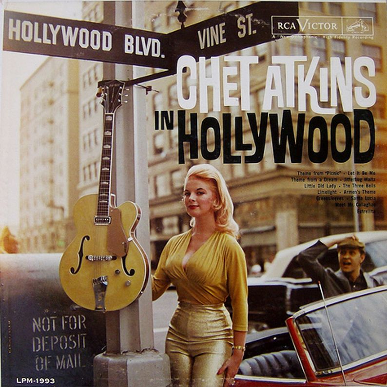 Album cover of Chet Atkins in Hollywood, 1961. RCA Victor.