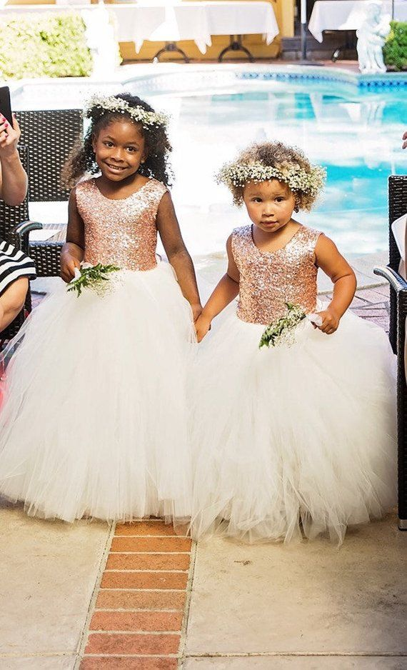 e34ff686 As Seen on THE KNOT - The Juliet Dress -Blush Sequin Bodice and Light Ivory  Tulle - Flower Girl Dres