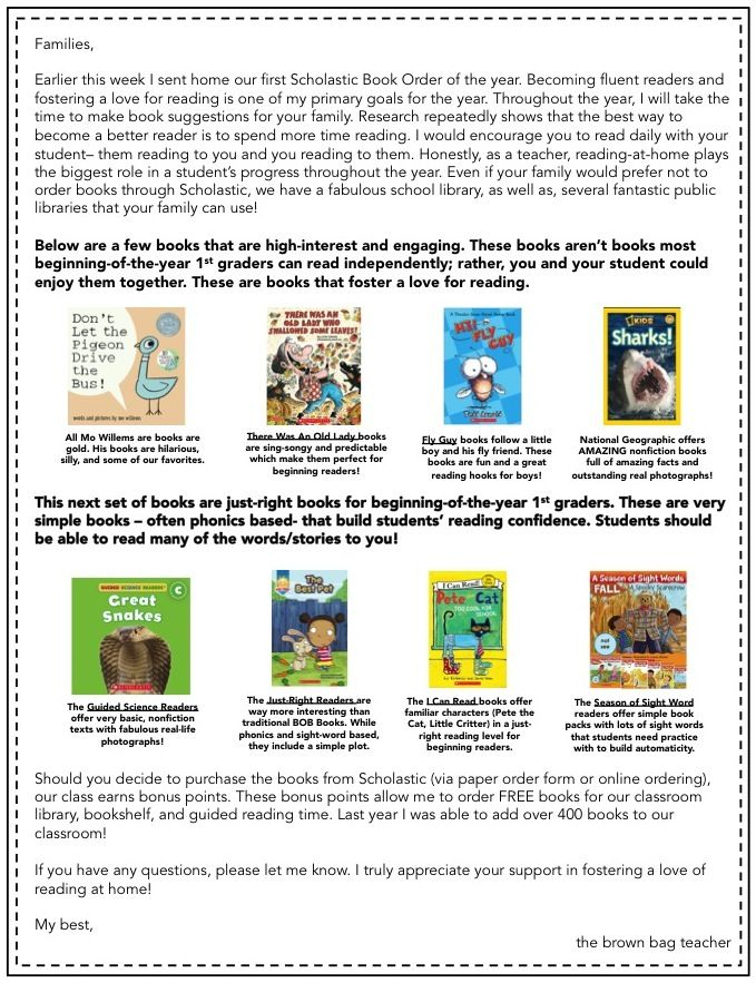 Scholastic reading club tips tricks reading club teacher and free letter for scholastic book orders that includes book recommendations and online ordering directions the fandeluxe Image collections