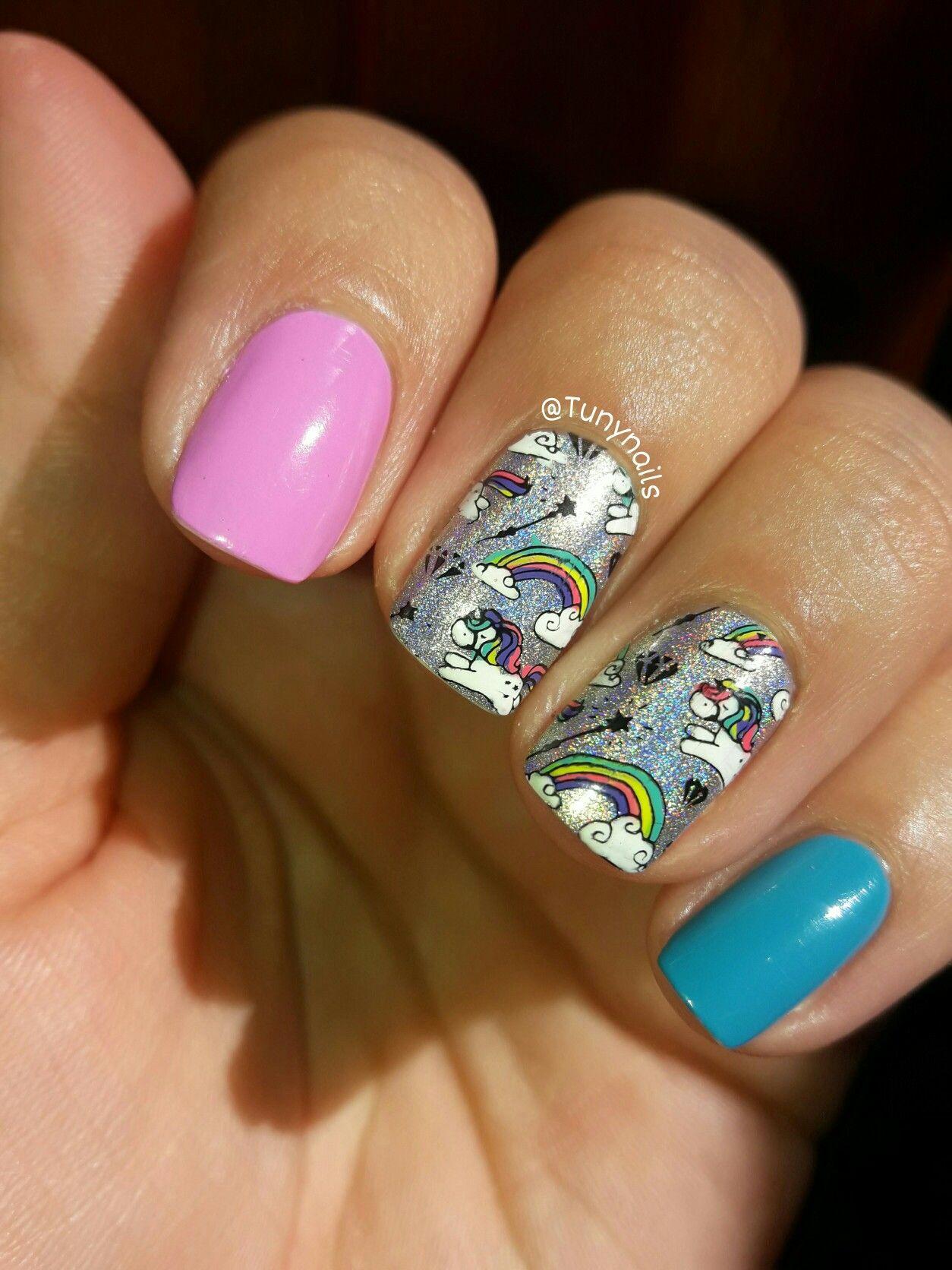 Stamping nail reverse unicorn Stamping plate Harunouta-l045 ...