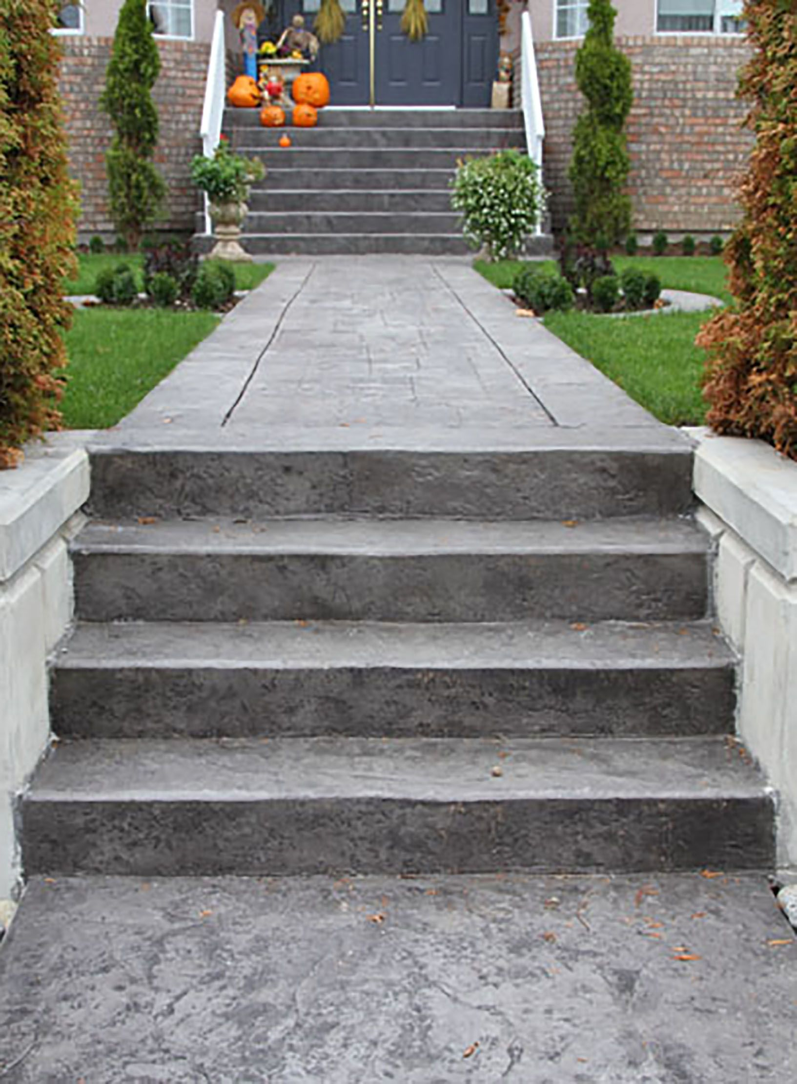 stamped concrete stairs avante residential projects