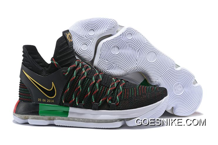 4f3246276ac0 Nike KD 10  BHM  Black Multi-Color Online in 2019