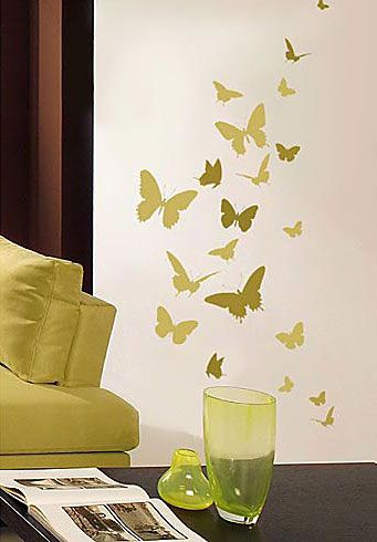 stencil-mariposas | Wall Template | Pinterest | Template and Walls