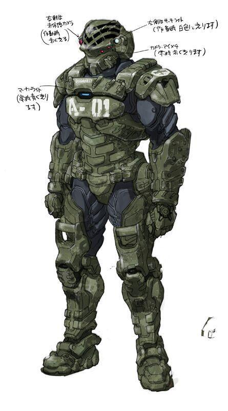 STARSHIP HALO TROOPERS: Halo X Male Starship Trooper ...