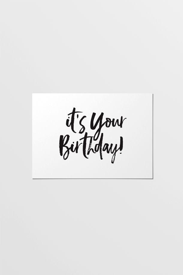 Modern Festive Happy Birthday Card With Images Happy Birthday