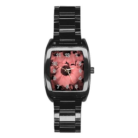 Red Black-eyed Susans Stainless Steel Barrel Watch