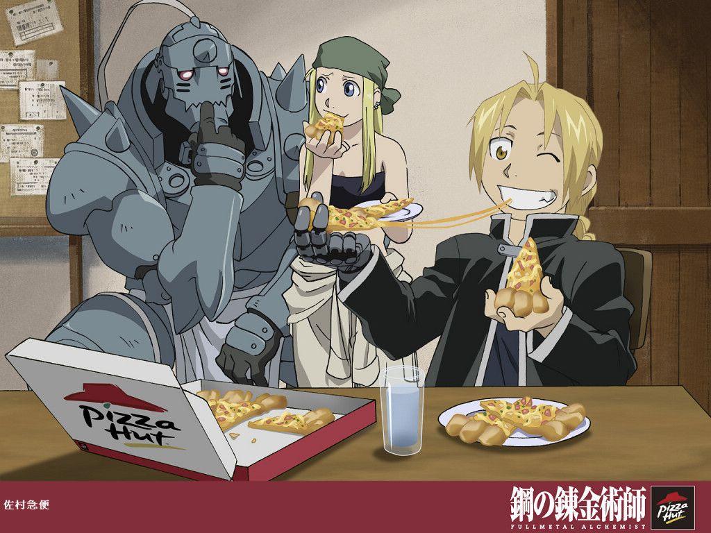 These Pizza Hut ads are gems! anime fullmetalalchemist