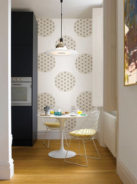 An Idea For The Kitchen Small Dinette And Accent Wall Room Decor Decor Home
