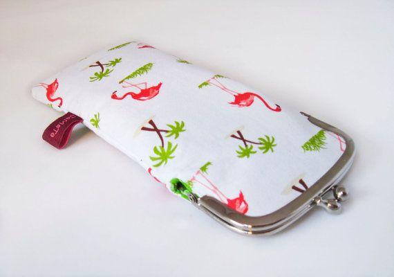 Brillenetui Flamingos Flamingos und Palmen auf von JaMaTaShop