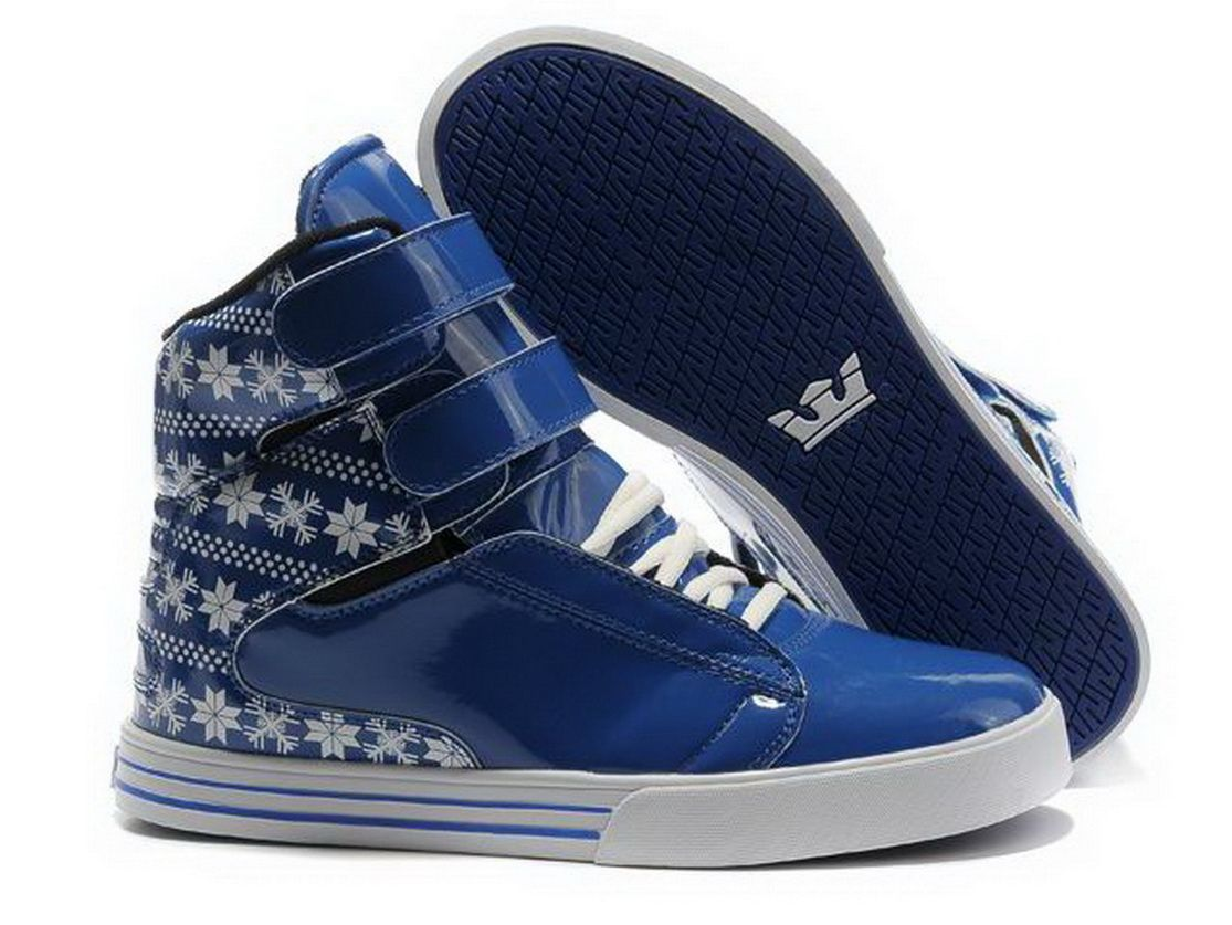 competitive price 39522 04faa Supra TK Society High Top Shoe Blue White Leaf