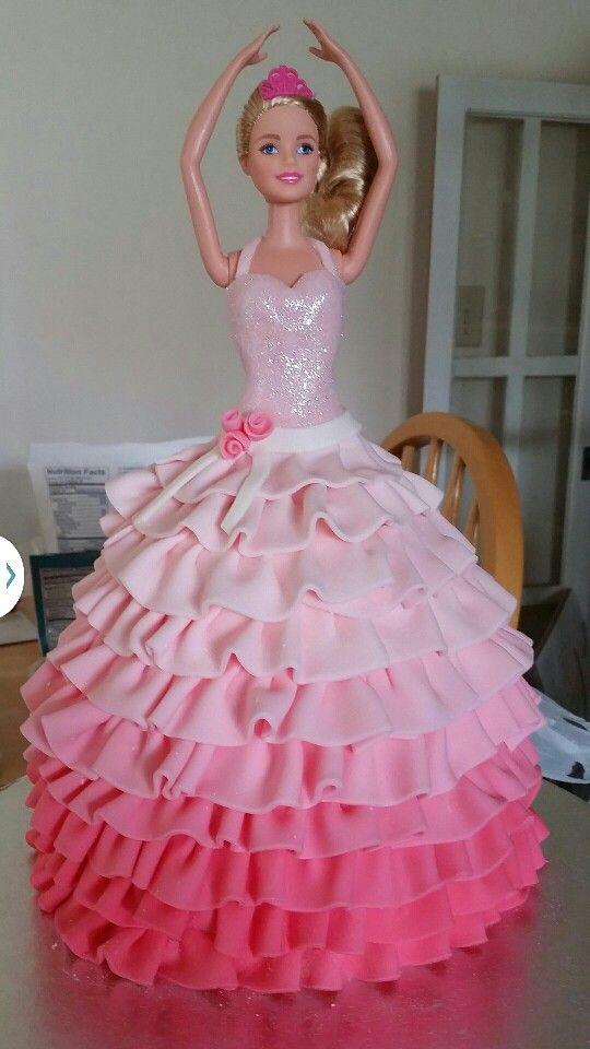 Barbie Dress Cake   Fondant Stuff   Pinterest   Dress Cake Barbie Dress And Cake