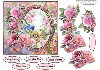 Victorian Rose Garden Topper with Decoupage